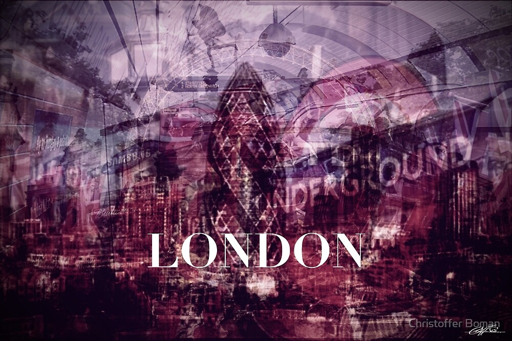 London collage by Christoffer Boman