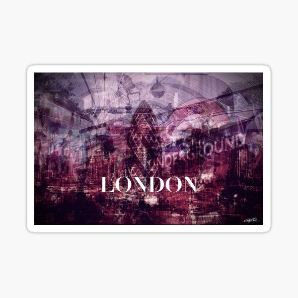 London collage Sticker