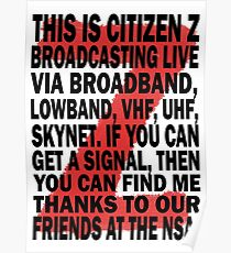Z Nation: Citizen Z Speech Poster