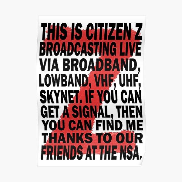 Z Nation: Citizen Z Speech Póster