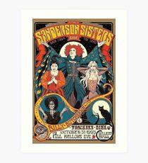 Sanderson Sisters Vintage Tour Poster Art Print