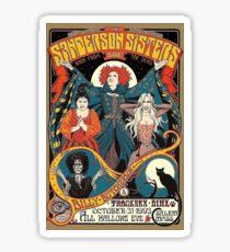 Sanderson Sisters Vintage Tour Poster Sticker
