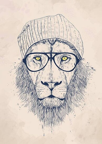 Hipster Lion by bal221