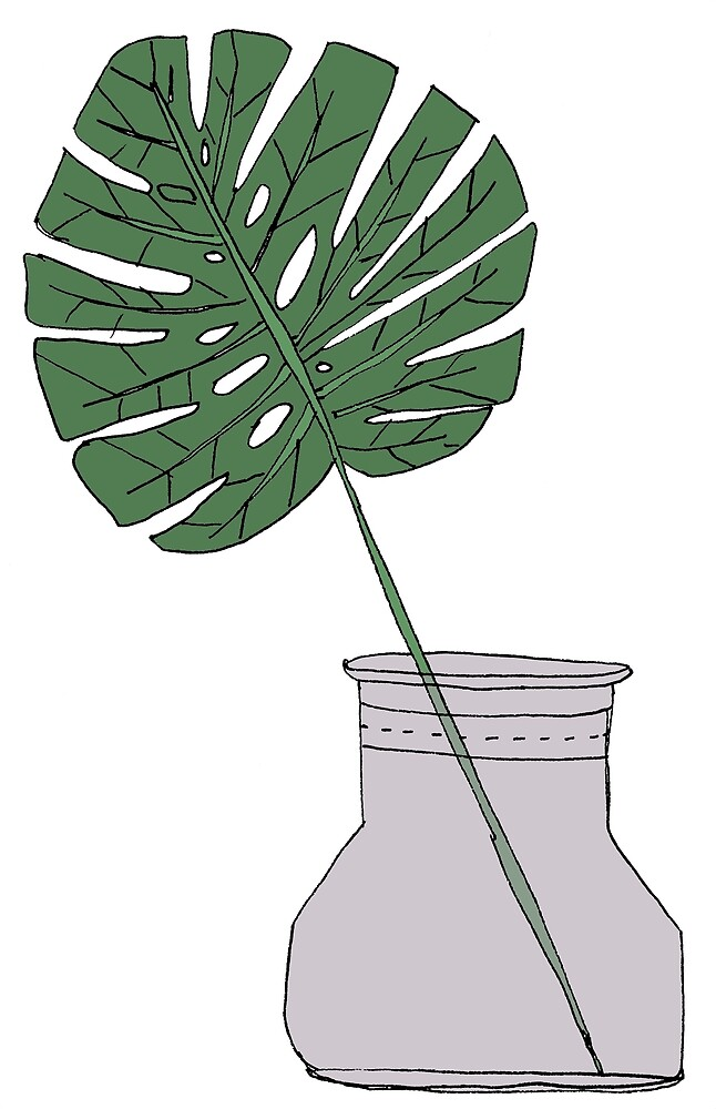 Monstera Leaf by Laura Maxwell