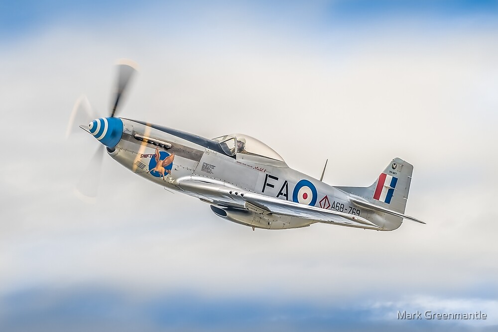 WWII RAAF Mustang Air to Air by Mark Greenmantle