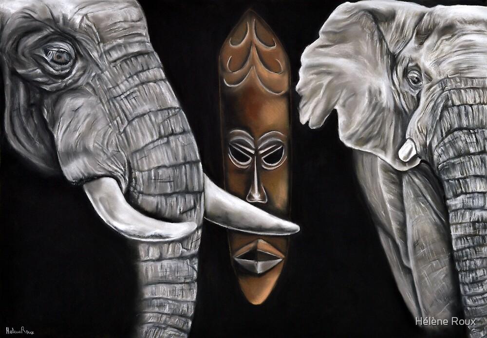 African Savannah / Helene Roux / African Mask / Africa / Elephant by Hélène Roux