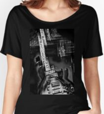 Rock Star an abstract of an electric guitar  Women's Relaxed Fit T-Shirt