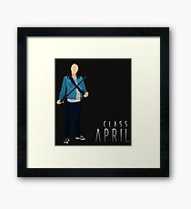 BBC Class: April MacLean Silhouette (from Doctor Who) Framed Print