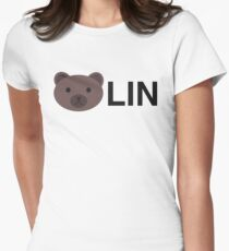 Berlin Germany, Bear Lin Bearlin Women's Fitted T-Shirt
