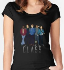 BBC Class: Full Class of '16 Silhouette (from Doctor Who) Women's Fitted Scoop T-Shirt