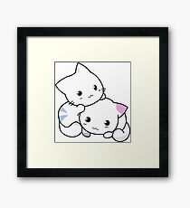 Cute Kitties Playing Framed Print
