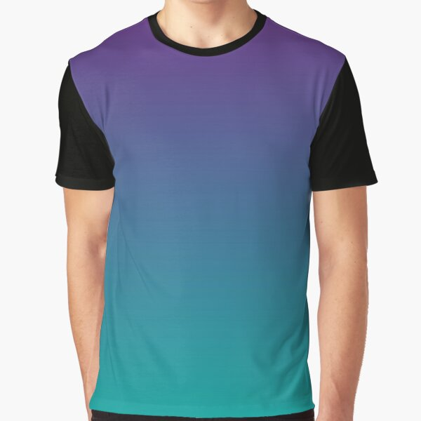 Ombre   Gradient Colors   Purple and Teal    Graphic T-Shirt