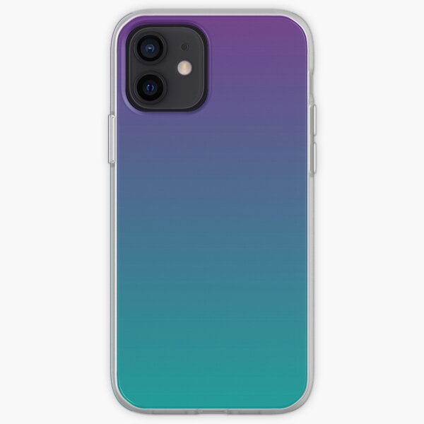 Ombre | Gradient Colors | Purple and Teal |  iPhone Soft Case