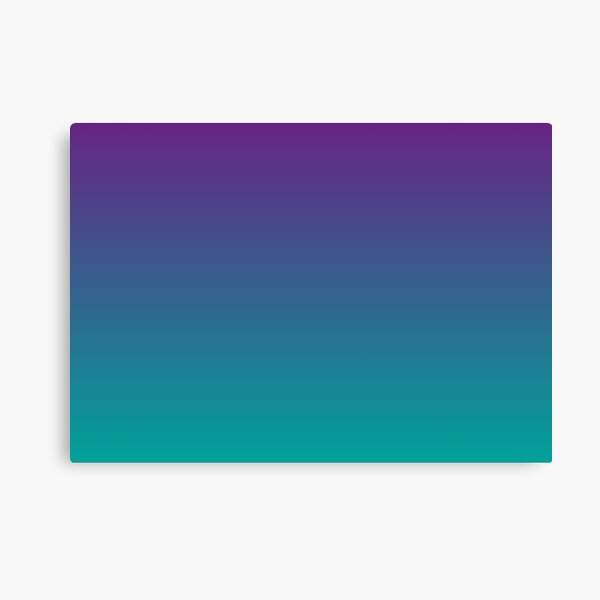 Ombre | Gradient Colors | Purple and Teal |  Canvas Print