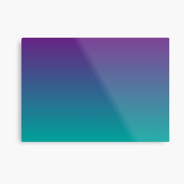 Ombre   Gradient Colors   Purple and Teal    Metal Print