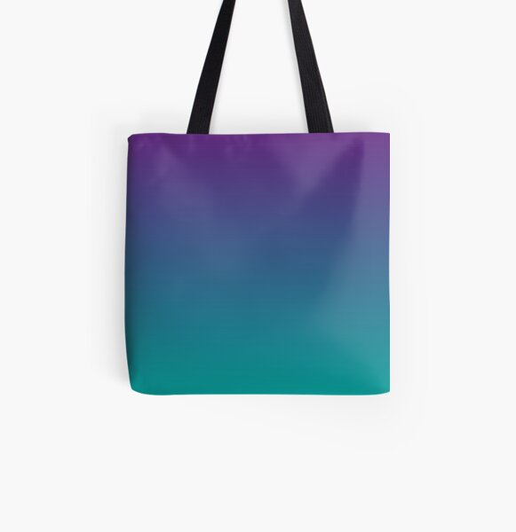 Ombre | Gradient Colors | Purple and Teal |  All Over Print Tote Bag
