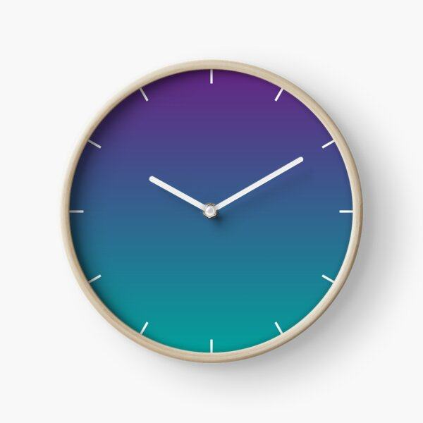 Ombre | Gradient Colors | Purple and Teal |  Clock