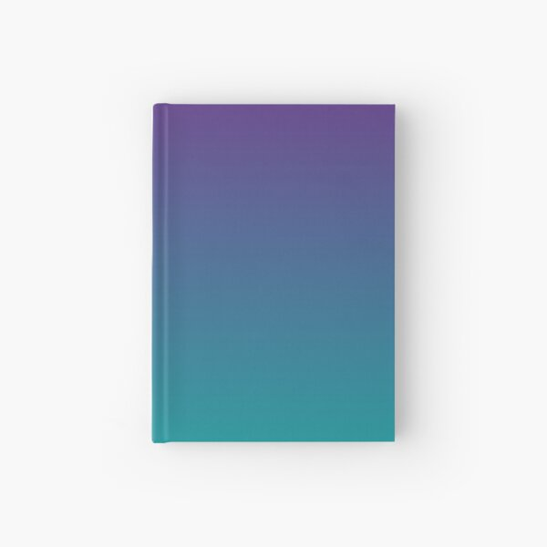 Ombre | Gradient Colors | Purple and Teal |  Hardcover Journal