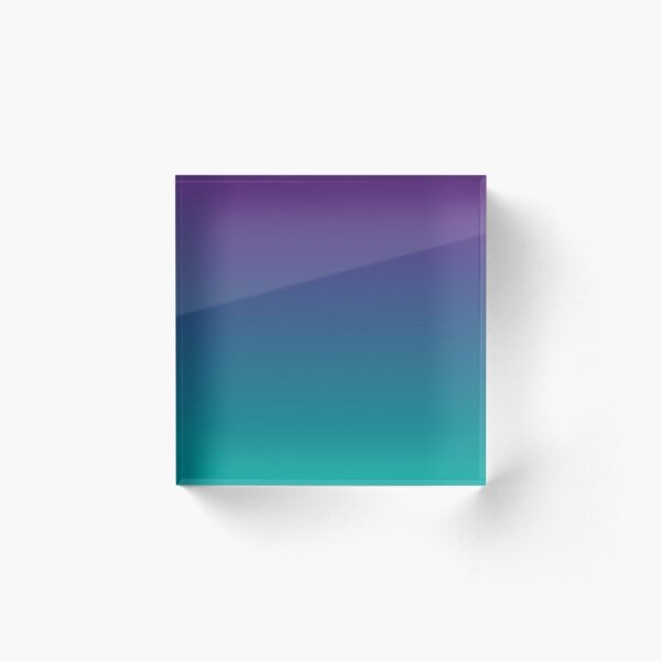 Ombre | Gradient Colors | Purple and Teal |  Acrylic Block