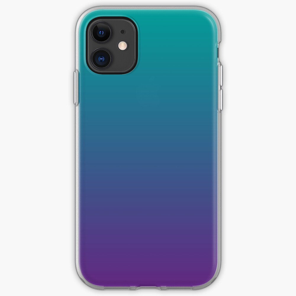 Ombre | Gradient Colors | Teal and Purple |  iPhone Soft Case