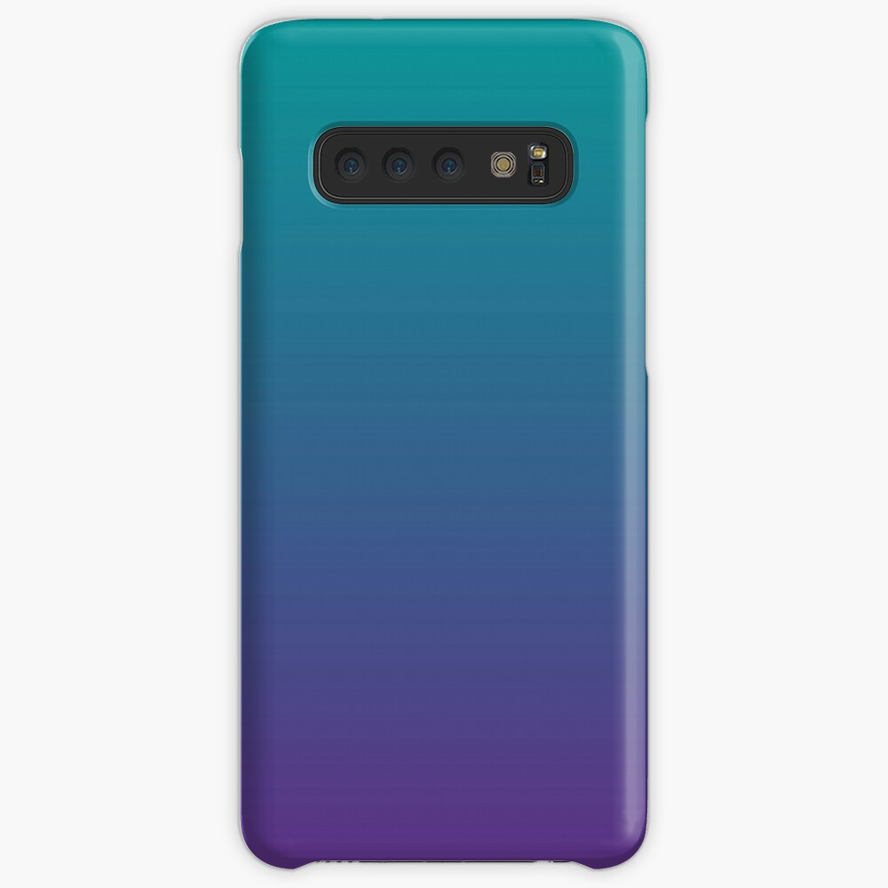 Ombre   Gradient Colors   Teal and Purple    Samsung Galaxy Snap Case