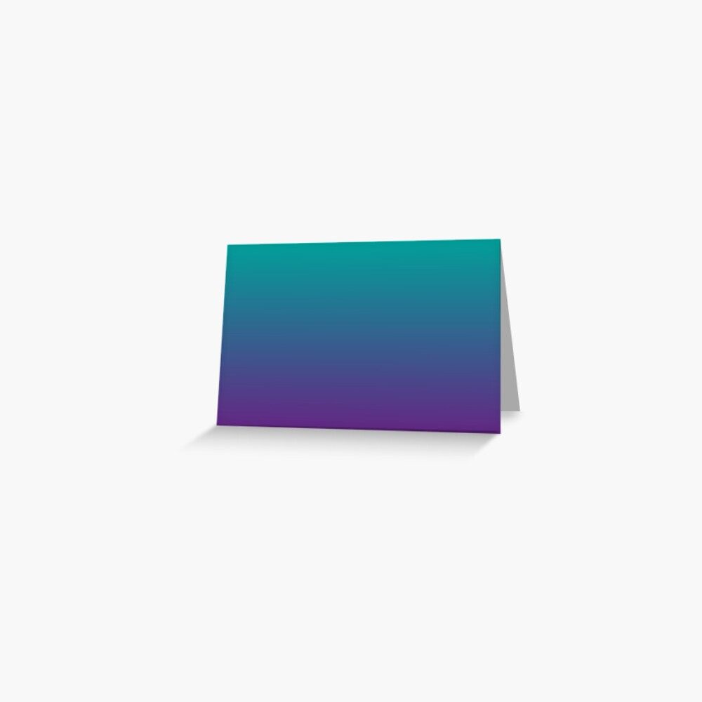 Ombre   Gradient Colors   Teal and Purple    Greeting Card