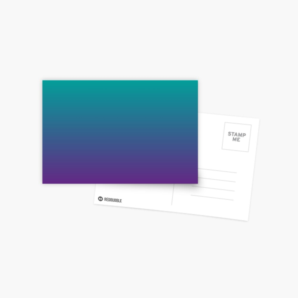 Ombre   Gradient Colors   Teal and Purple    Postcard