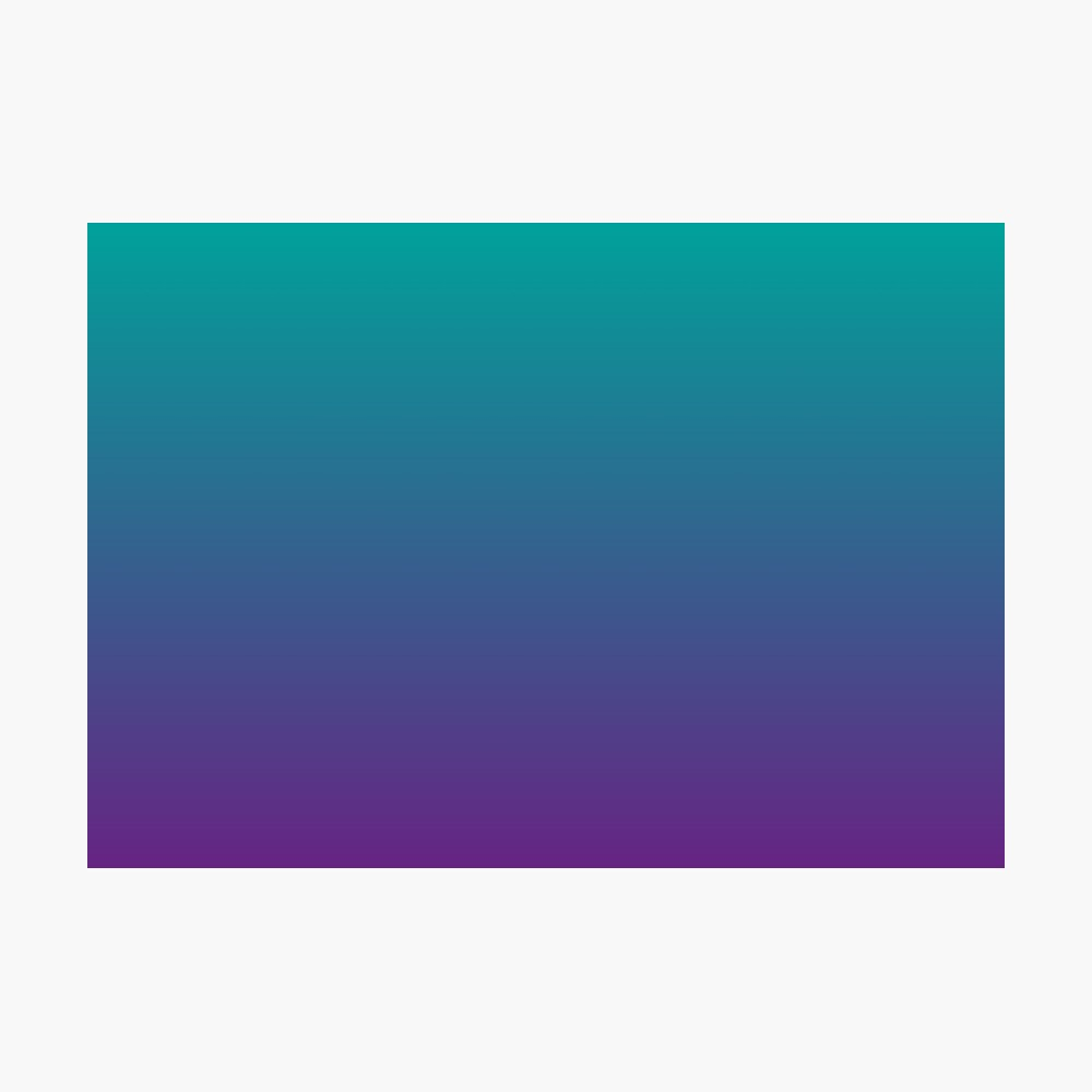 Ombre | Gradient Colors | Teal and Purple |  Photographic Print