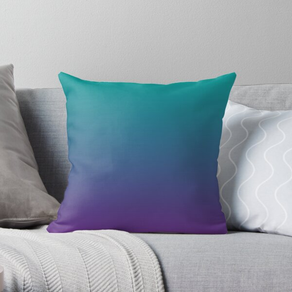 Ombre | Gradient Colors | Teal and Purple |  Throw Pillow
