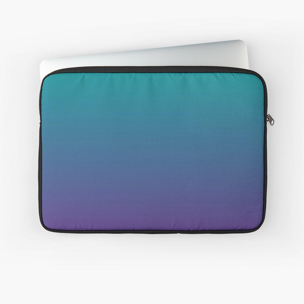 Ombre | Gradient Colors | Teal and Purple |  Laptop Sleeve