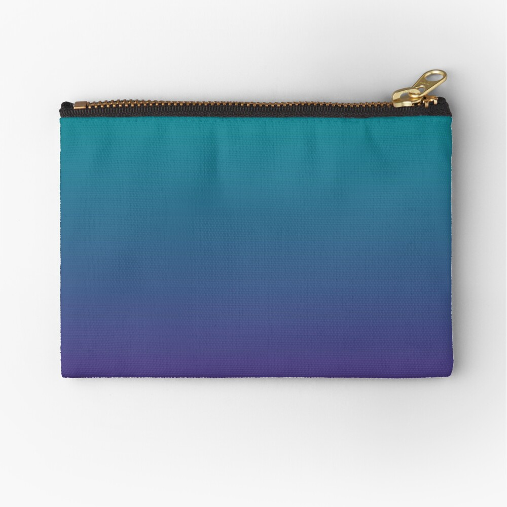 Ombre | Gradient Colors | Teal and Purple |  Zipper Pouch