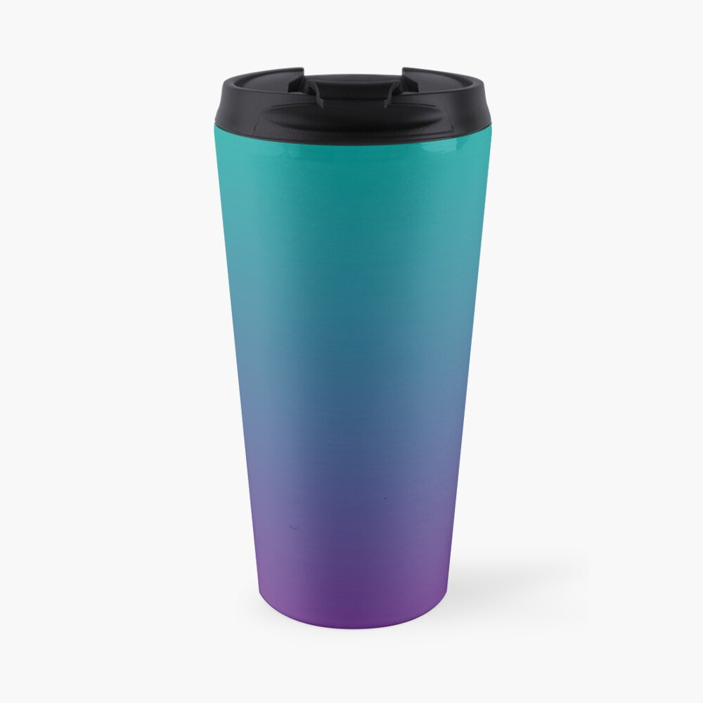 Ombre | Gradient Colors | Teal and Purple |  Travel Mug