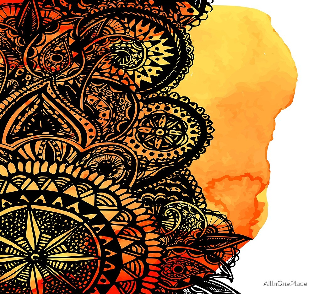Ethnic Mandala by AllInOnePlace