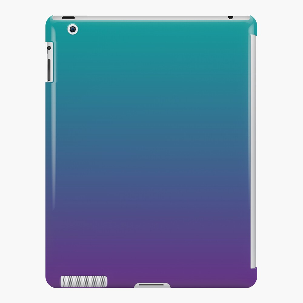Ombre | Gradient Colors | Teal and Purple |  iPad Snap Case