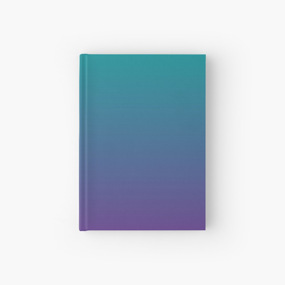 Ombre | Gradient Colors | Teal and Purple |  Hardcover Journal