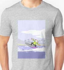 Surfing boy holds in total balance T-Shirt