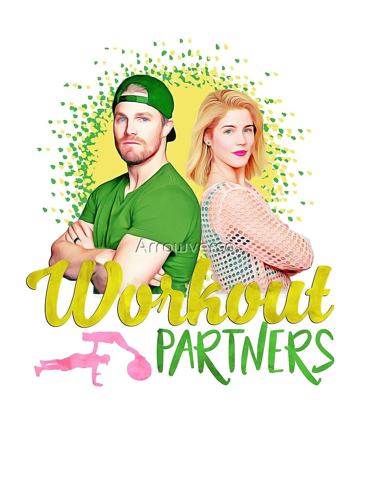 "Arrow ""workout partners"" Emily Bett & Stephen Amell by Arrowverse"