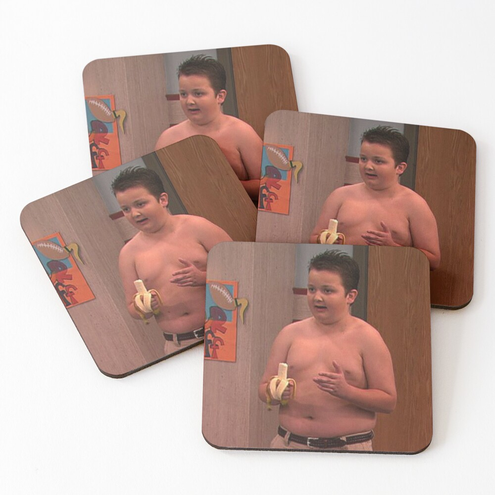 Gibby From ICarly Coasters (Set of 4)