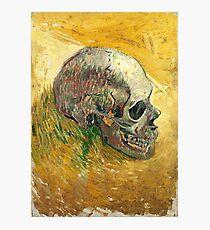 Vincent Van Gogh Skull Painting  Photographic Print