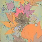 Fall Leaves and Floral Soft Tones by Melissa J Barrett