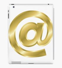 @ At Sign Logogram Modern Letter Gold Bold Font  iPad Case/Skin