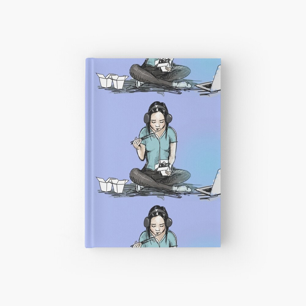 Chinese food and movie night Hardcover Journal