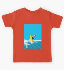 Boy surfing dangerously Kids Clothes