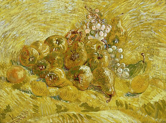 Quinces, lemons, pears and grapes by Van Gogh  by fineearth