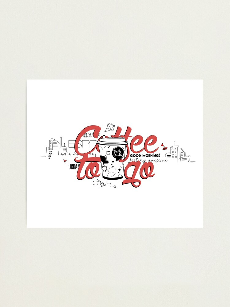 Alternate view of Coffee to go Photographic Print