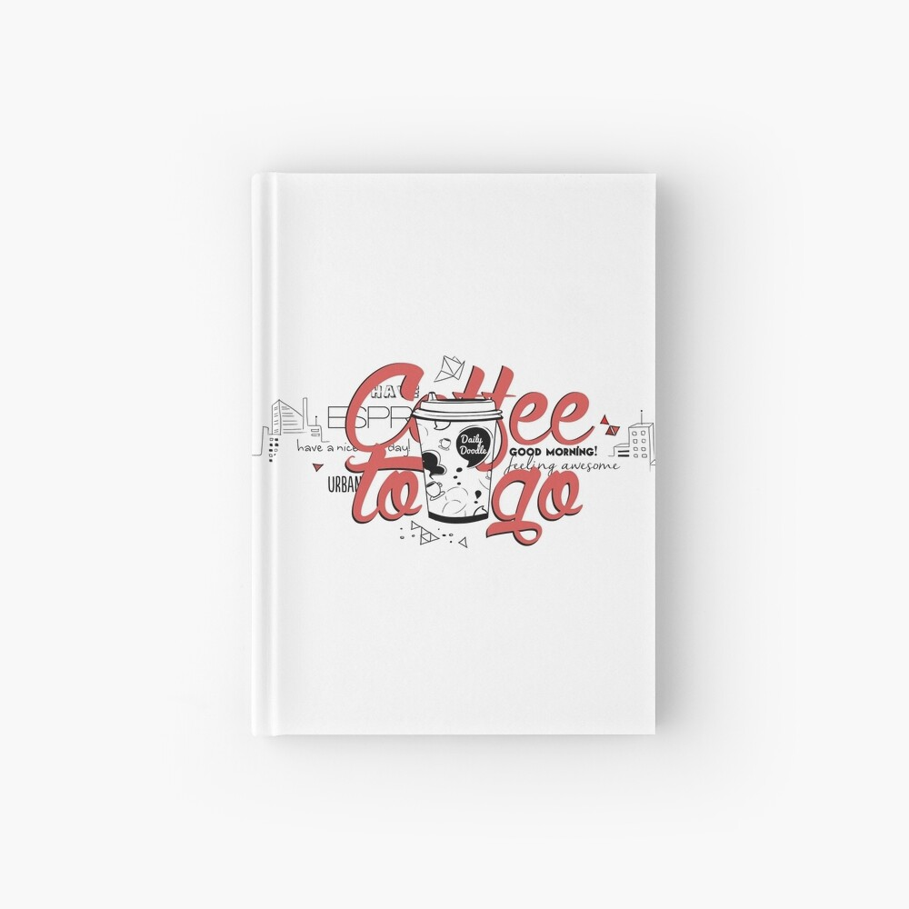 Coffee to go Hardcover Journal