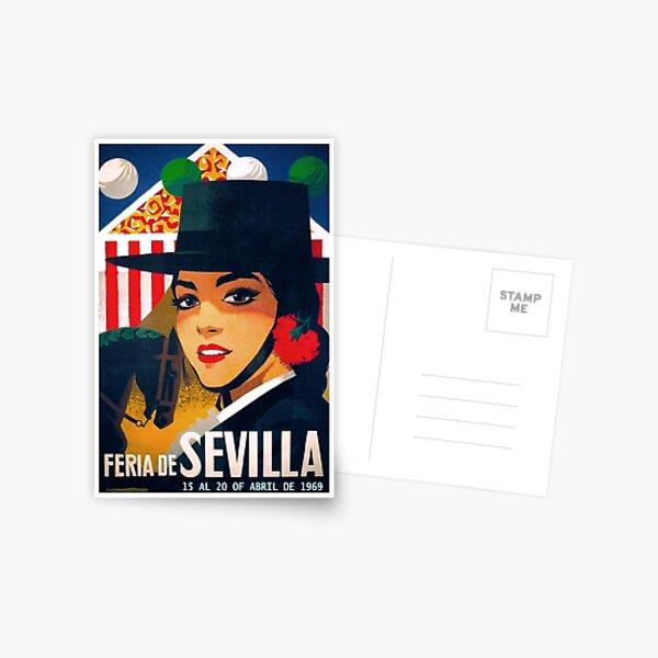 Spain 1969 Seville April Fair Poster Postcard