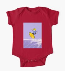 Surfing boy jumping in the air Kids Clothes