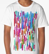 Multicolored watercolor stripes pattern Long T-Shirt