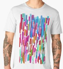 Multicolored watercolor stripes pattern Men's Premium T-Shirt